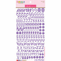 Bella Blvd - Legacy Collection - Florence Alphabet Stickers - Plum