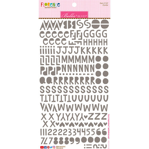 Bella Blvd - Legacy Collection - Florence Alphabet Stickers - Oyster