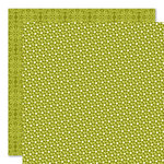 Bella Blvd - Sophisticates Collection - 12 x 12 Double Sided Paper - Sprinkles and Lace - Pickle Juice