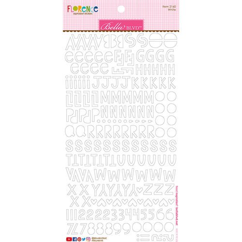 Bella Blvd - Legacy Collection - Florence Alphabet Stickers - White
