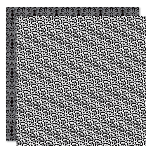 Bella Blvd - Sophisticates Collection - 12 x 12 Double Sided Paper - Sprinkles and Lace - Oreo