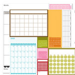 Bella Blvd - Sophisticates Collection - 12 x 12 Double Sided Paper - Calendars