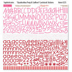 Bella Blvd - Sophisticates Collection - 12 x 12 Cardstock Stickers - Quattrofina Alphabets - Peep and Saffron