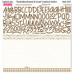 Bella Blvd - Sophisticates Collection - 12 x 12 Cardstock Stickers - Quattrofina Alphabets - Brownie and Cream