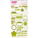 Bella Blvd - Sophisticates Collection - Ciao Chip - Self Adhesive Chipboard - Essentials - Asparagus and Pickle Juice