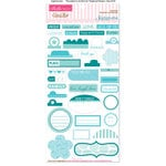 Bella Blvd - Sophisticates Collection - Ciao Chip - Self Adhesive Chipboard - Essentials - Ice and Chlorine