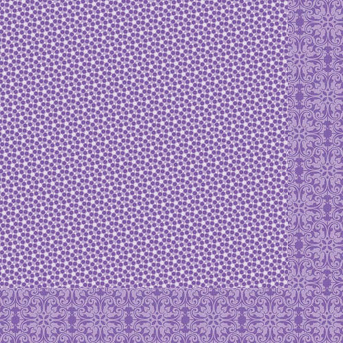 Bella Blvd - Sophisticates Collection - 12 x 12 Double Sided Paper - Sprinkles and Lace - Plum