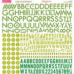 Bella Blvd - Sophisticates Collection - 12 x 12 Cardstock Stickers - Alphabet - Green