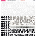 Bella Blvd - Sophisticates Collection - 12 x 12 Cardstock Stickers - Alphabet - Black