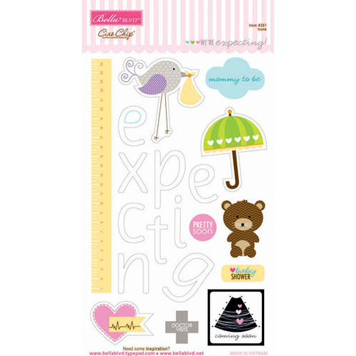 Bella Blvd - We're Expecting Collection - Ciao Chip - Self Adhesive Chipboard - Icons