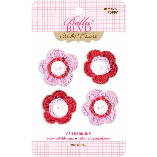 Bella Blvd - Crochet Flowers - Poppy