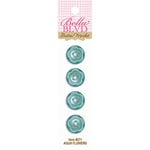 Bella Blvd - Buttons - Aqua Flowers