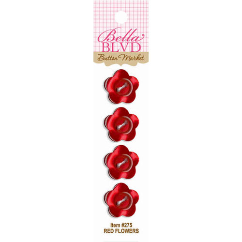 Bella Blvd - Buttons - Red Flowers