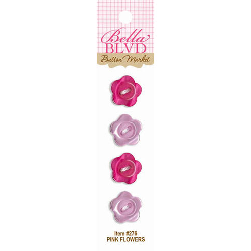 Bella Blvd - Buttons - Pink Flowers