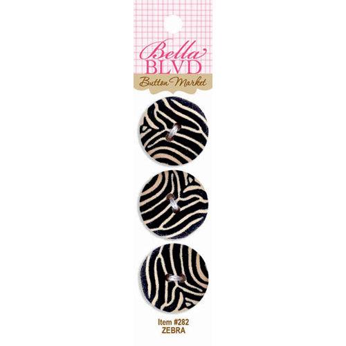 Bella Blvd - Buttons - Zebra