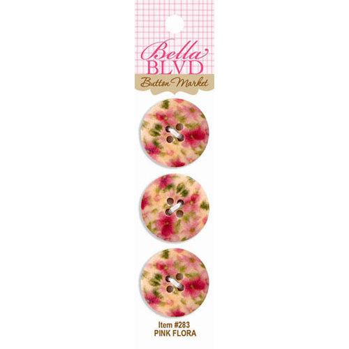 Bella Blvd - Buttons - Pink Flora