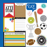 Bella Blvd - Making the Team Collection - 12 x 12 Double Sided Paper - Cute Cuts