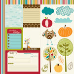 Bella Blvd - Finally Fall Collection - 12 x 12 Double Sided Paper - Cute Cuts