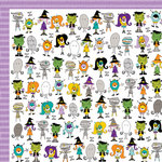 Bella Blvd - Too Cute to Spook Collection - Halloween - 12 x 12 Double Sided Paper - The Boo Crew