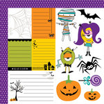 Bella Blvd - Too Cute to Spook Collection - Halloween - 12 x 12 Double Sided Paper - Cute Cuts