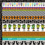 Bella Blvd - Too Cute to Spook Collection - Halloween - 12 x 12 Double Sided Paper - Borders