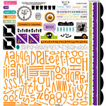 Bella Blvd - Too Cute to Spook Collection - Halloween - 12 x 12 Cardstock Stickers - Alphabet and Bits