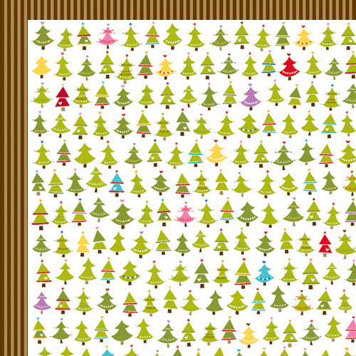 Bella Blvd - Christmas Wishes Collection - 12 x 12 Double Sided Paper - Trees for Sale