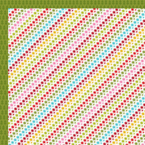 Bella Blvd - Christmas Wishes Collection - 12 x 12 Double Sided Paper - Star Stripe
