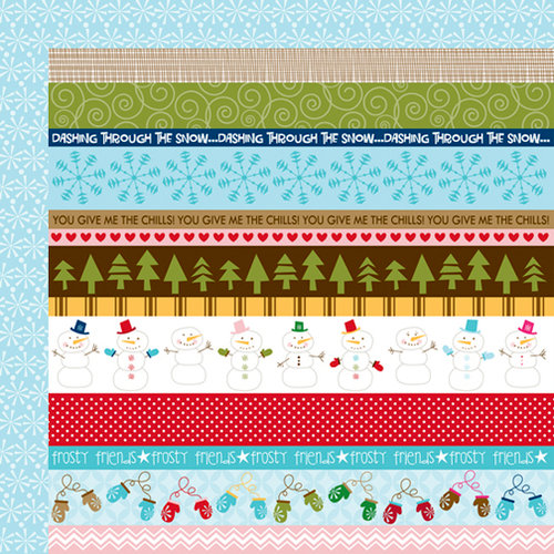 Bella Blvd - Winter Wonder Collection - 12 x 12 Double Sided Paper - Borders