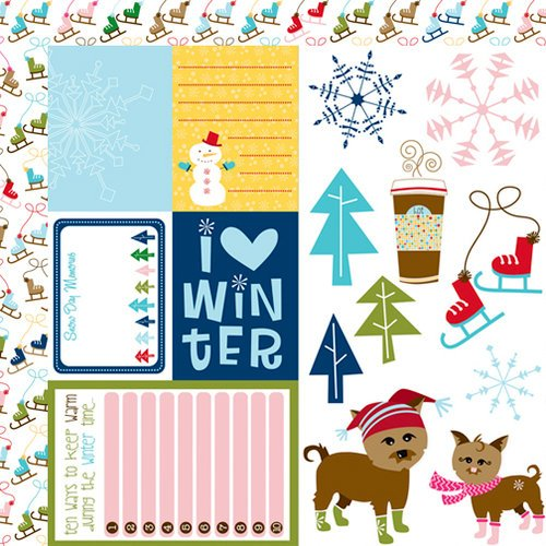 Bella Blvd - Winter Wonder Collection - 12 x 12 Double Sided Paper - Cute Cuts
