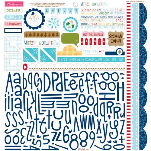 Bella Blvd - Winter Wonder Collection - 12 x 12 Cardstock Stickers - Alphabet and Bits