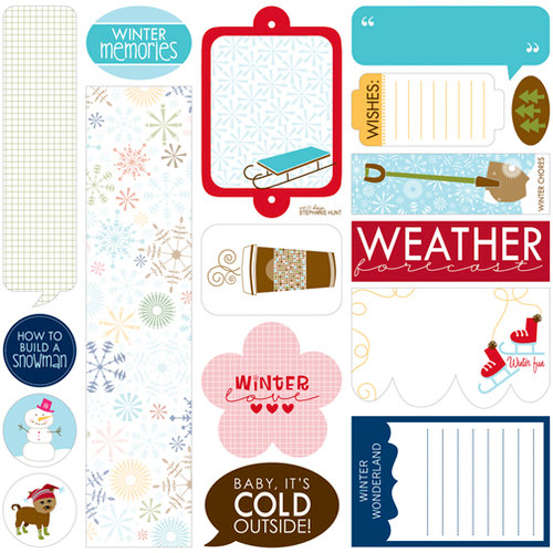 Bella Blvd - Winter Wonder Collection - 12 x 12 Cardstock Stickers - Just Write