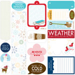 Bella Blvd - Winter Wonder Collection - 12 x 12 Cardstock Stickers - Just Write