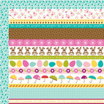 Bella Blvd - Spring Flings and Easter Things Collection - 12 x 12 Double Sided Paper - Borders