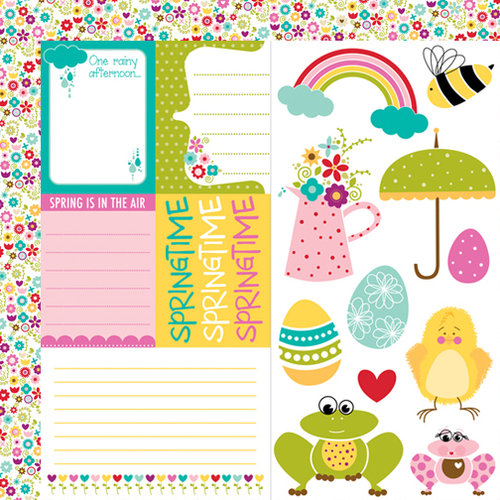 Bella Blvd - Spring Flings and Easter Things Collection - 12 x 12 Double Sided Paper - Cute Cuts