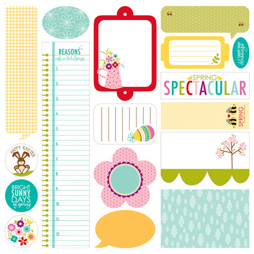 Bella Blvd - Spring Flings and Easter Things Collection - 12 x 12 Cardstock Stickers - Just Write