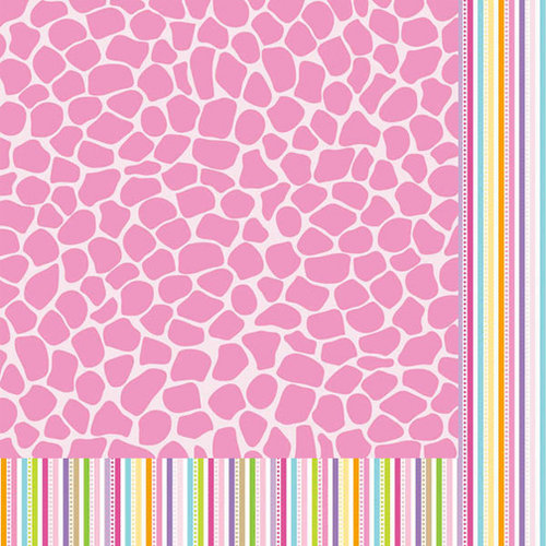 Bella Blvd - Baby Girl Collection - 12 x 12 Double Sided Paper - Snuggly Safari