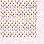 Bella Blvd - Baby Girl Collection - 12 x 12 Double Sided Paper - Baby Cakes