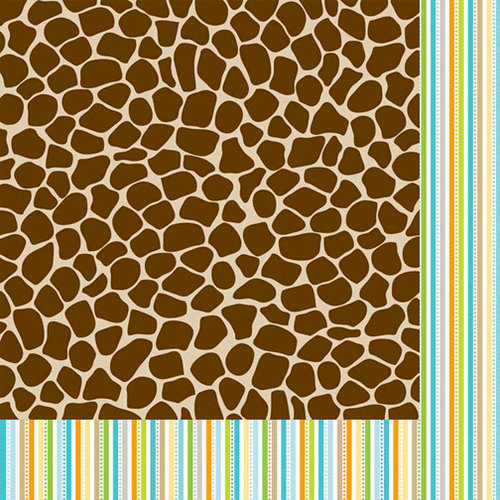 Bella Blvd - Baby Boy Collection - 12 x 12 Double Sided Paper - Wild About You