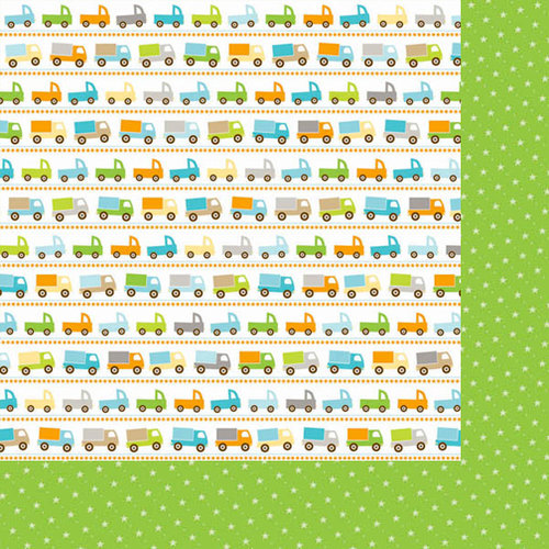 Bella Blvd - Baby Boy Collection - 12 x 12 Double Sided Paper - On the Go