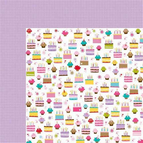 Bella Blvd - Birthday Girl Collection - 12 x 12 Double Sided Paper - Sugar Rush