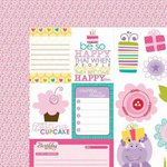 Bella Blvd - Birthday Girl Collection - 12 x 12 Double Sided Paper - Cute Cuts