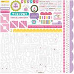 Bella Blvd - Birthday Girl Collection - 12 x 12 Cardstock Stickers - Alphabet and Bits