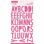 Bella Blvd - Sophisticates Collection - Ciao Chip - Self Adhesive Chipboard - Sienna Alphabet - Punch