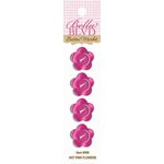 Bella Blvd - Birthday Girl Collection - Buttons - Hot Pink Flowers