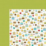 Bella Blvd - Birthday Boy Collection - 12 x 12 Double Sided Paper - Eat Cake