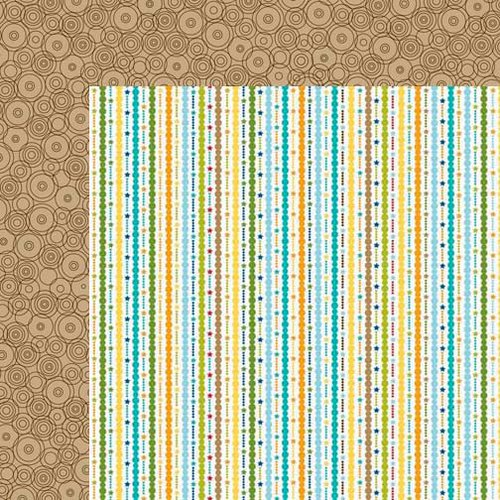 Bella Blvd - Birthday Boy Collection - 12 x 12 Double Sided Paper - Streamers