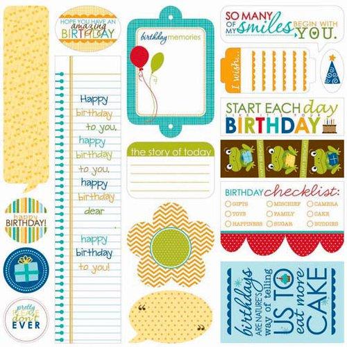 Bella Blvd - Birthday Boy Collection - 12 x 12 Cardstock Stickers - Just Write