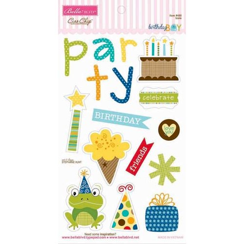 Bella Blvd - Birthday Boy Collection - Ciao Chip - Self Adhesive Chipboard - Icons