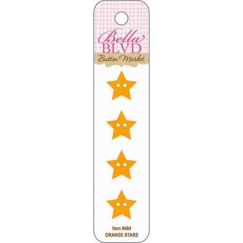 Bella Blvd - Birthday Boy Collection - Buttons - Orange Stars
